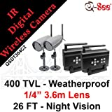 Q-SEE QSDT304C2 2 Pack Digital Wireless Camera and Receiver