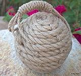 "6"" Monkey Fist Nautical Doorstop Rope Sailor Knot"