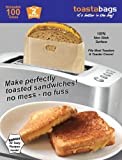 "Toastabags Reusable Non-Stick  Sandwich/Snack ""In Toaster"" Grilling Bags, 2 Pack"