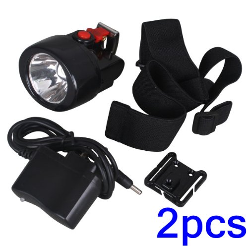 Ringlit® 2Pcs 1W 10000 Lx 2800Mah Led Mining Headlight Miner Cap Lamp With Ip65 Water Proof Level