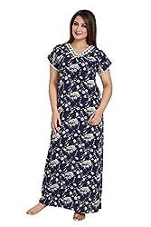 Vimal Fashion Cotton Multi Colour Printed Night Wear / Nightgown / Women Sleepwear / Womans Pyjamas (VF040)