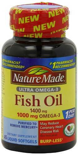 Nature Made Ultra Omega-3 Fish Oil Softgels, 1400 Mg, 45 Count (Nature Made Ultra Fish Oil compare prices)