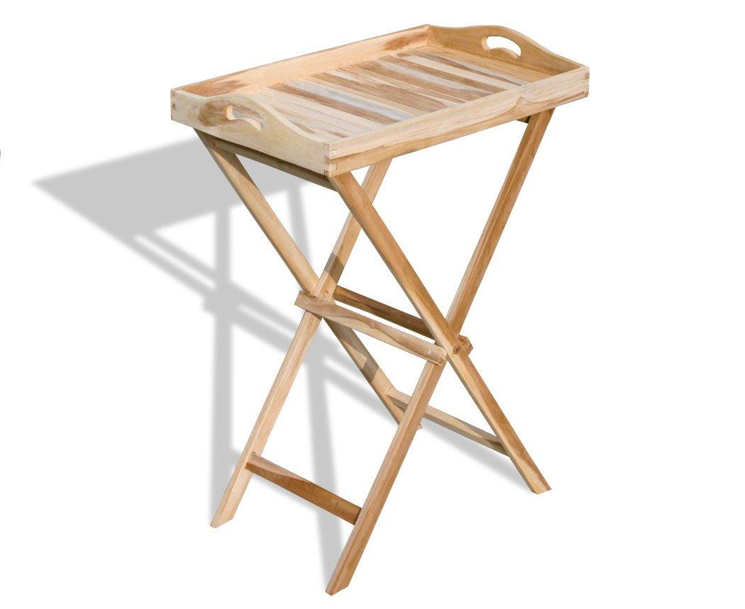 KMH®, Tablett-Tisch aus echtem Teakholz (#102121) günstig online kaufen