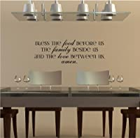 Bless The Food Before Us, The Family Beside Us, And The Love Between Us, Amen vinyl wall decal from Wall Saying Vinyl Lettering