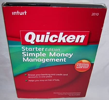 Quicken Starter Edition 2010 Simple Money Management