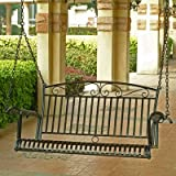 Tropico Porch Swing in Black-Finished Iron