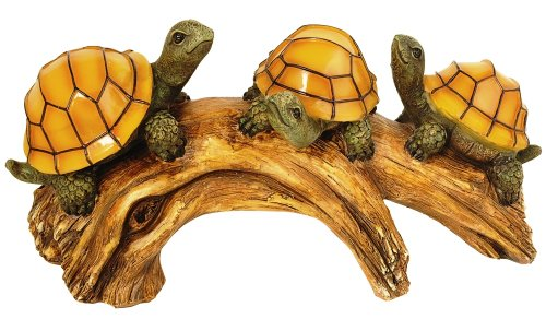 Moonrays 91515 Turtles on a Log Solar-Powered Outdoor LED Light