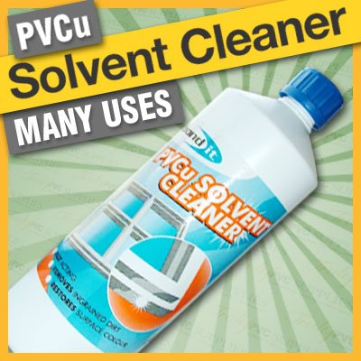 Bond-It uPVC PVCu Solvent Cleaner 1 Litre - For PVC double glazed windows doors and conservatory restores surface colour, fast acting. Removes ingrained dirt from PVCu frames, plastic garden furniture & caravans etc.