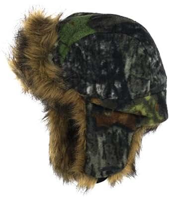 Quietwear Men's Fleece Fur Bomer Hat, Breakup, One Size