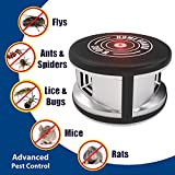 home guard indoor electronic plug in pest repeller ultrasonic pest control equipment with 360 degree multifunction pest control set and forget