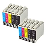 10 x LC1000, LC970 compatible ink cartridges for Brother printers dcp-135c, dcp-150c, dcp-153c, dcp-157c