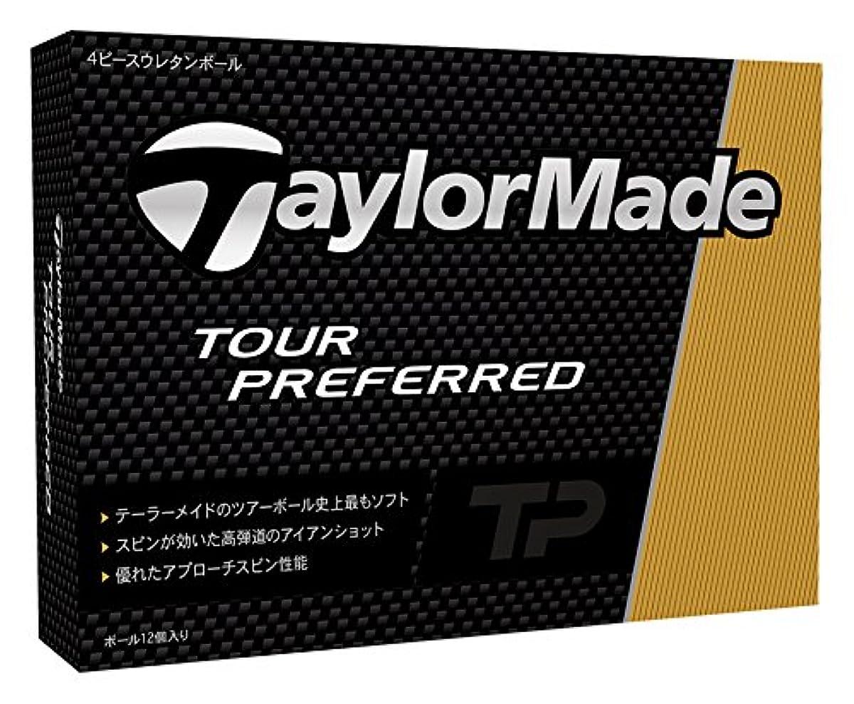 [해외] TAYLOR MADE(테일러메이드) TOUR PREFERRED 골프 볼(1다스12개 들이) 2016년 모델 볼 컬러 화이트  B1329701 화이트 (2016-03-04)