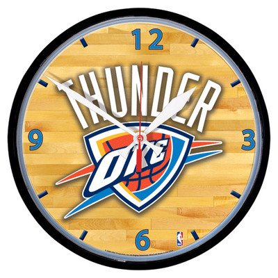 NBA Oklahoma City Thunder Round Clock