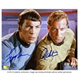 William Shatner and Leonard Nimoy Autographed Star Trek Photo: 8x10 - Autographed NHL Photos