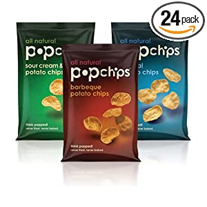 Popchips 6-Flavor Variety Pack, 0.8-Ounce Single Serve Bags (Pack of 24)
