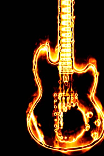 A Flaming Electric Guitar Rock God Journal: 150 Page Lined Notebook/Diary