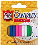 Cake Mate Round Candles, Assorted, 36-Count,  Units (Pack of 24)