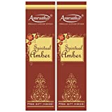Amrutha Aromatics Spiritual Amber Incense Sticks 150G (Pack Of 2)