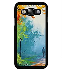 Crazymonk Premium Digital Printed Back Cover For Samsung Galaxy E7