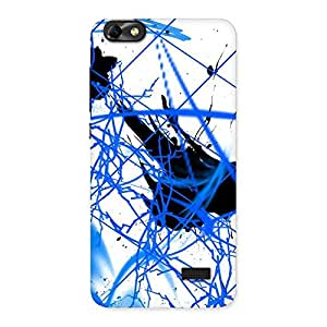 Enticing Blue Splasher Print Back Case Cover for Honor 4C