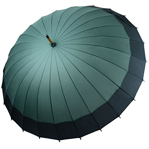 Kung Fu Smith Vintage Large Japanese Windproof Wooden Rain Umbrella 3