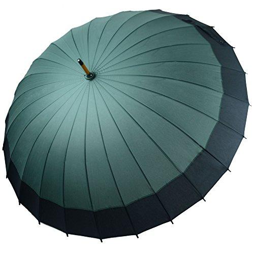 Kung Fu Smith Vintage Large Japanese Windproof Wooden Rain Umbrella 3