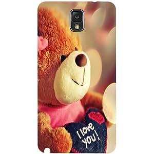 Casotec Teddy Bear Design Hard Back Case Cover for Samsung Galaxy Note 3 N9000