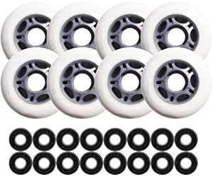 PRO ASPHALT HOCKEY FORMULA Skate Wheels 76mm + BEARINGS by Pro Stock