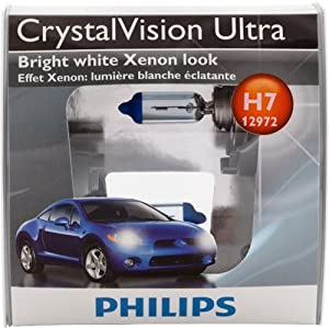 Philips H7 CrystalVision Ultra Headlight Bulb, Pack of 2 by Philips Automotive Lighting