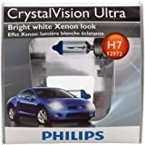 Philips H7 CrystalVision Ultra Headlight Bulb, Pack of 2