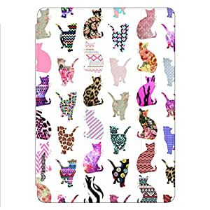 Enthopia Designer Front Smart Cover Cats Cats Cats Back Cover for Ipad Air with Transparent Back Case