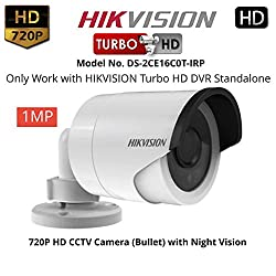 Tubros HIKVISION DS-2CE16C0T-IRP (1MP) Turbo HD 720P Bullet CCTV Security Camera with Night Vision