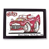 GREASE GREASED LIGHTNING Ford De Lux Classic Musical Car Cartoon Koolart Quality Glass Framed Picture