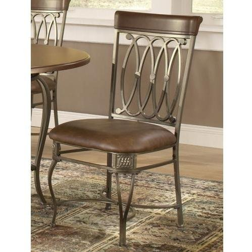 Cheap Hillsdale Montello Dining Chairs Set Of 2 With Brown Faux Leather O