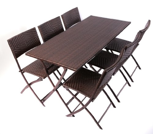 Black friday RST Outdoor Perfect Folding Table Chair Set Patio Furniture Cybe