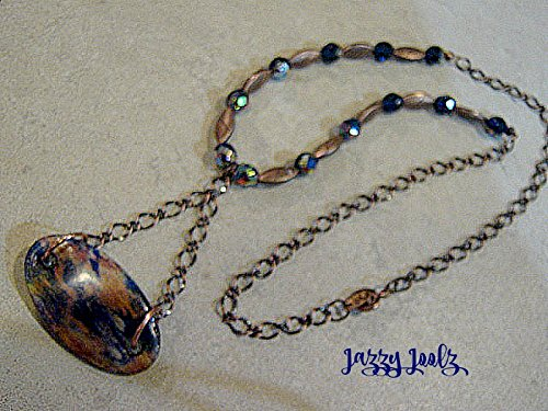copper-and-blue-handpainted-wood-pendant-necklace