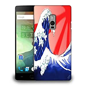 Snoogg Sea Waves Printed Protective Phone Back Case Cover Fpr OnePlus One / 1+1