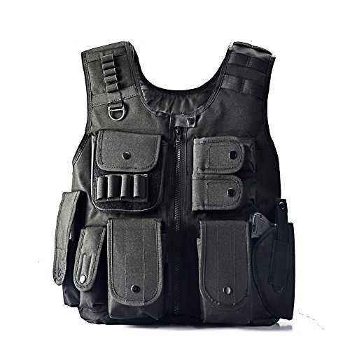 Yakeda Law Enforcement Tactical SWAT Vest Army Fans Outdoor Vest Cs Game Vest,cs Field Vest Cosplay of Counter Strike Game-E88017 (Plate Carrier Removable Belt compare prices)