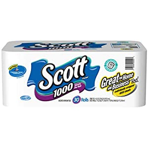 Scott Tissue, 1000 Sheets Per Roll, 36 Pack