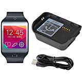 Galaxy Gear 2 Neo Charger, Efanr® Black High-quality Replacement Charger Charging Cradle Dock + Micro USB Cable Cor for Samsung Galaxy Gear 2 Neo SM-R381 R381 Smart Watch