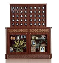 Orbita Bergamo Forty Watch Winder With Glass Doors In Madrona Burl