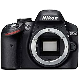 Nikon D3200 Digital SLR Camera Body (Black)