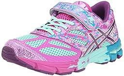 ASICS GEL Noosa Tri 10 PS Running Shoe (Little Kid/Little Kid/Little Kid),Beach Glass/Plum/Hot Pink,13 M US Little Kid