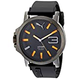 PUMA Men's PU103911001 Ultrasize 50 Analog Display Quartz Black Watch