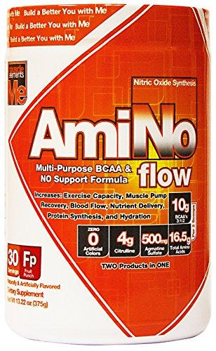 Muscle Elements Amino Flow Diet Supplement, Fruit Punch, 375 Gram