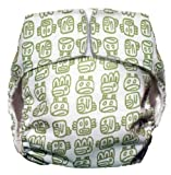 CuteyBaby All in One Modern Cloth Diaper, Green Tribal