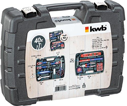 kwb-Werkzeugkoffer-370720-40-teiliger-Inhalt-ideal-fr-den-ambitionierten-Hausgebrauch-im-praktischen-Kunststoffkoffer