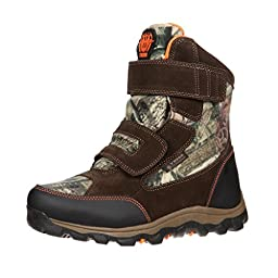 Rocky Boys\' R.A.M. Waterproof Insulated Velcro Boot Round Toe Camouflage 9.5 D(M) US