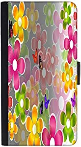 Snoogg Multicolored Daisies And Butterflies 2662 Graphic Snap On Hard Back Le...