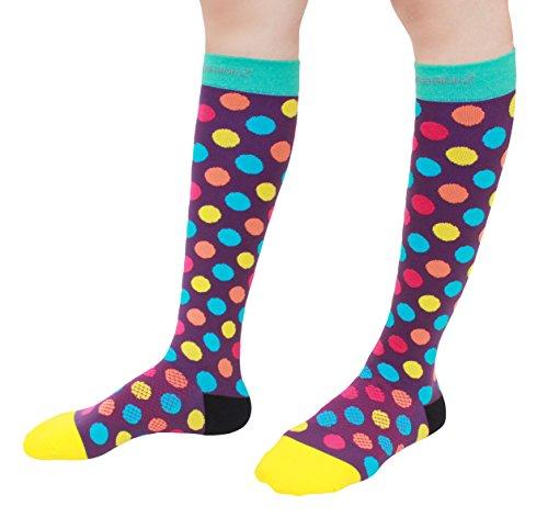 Compression Socks (Urban Dots M/ 20-30mmHg) Men & Women Fun Running Casual Socks
